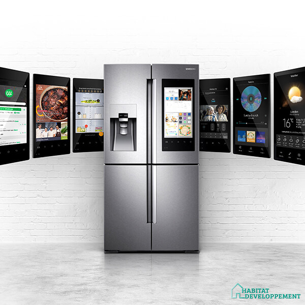 habitat developpement frigo americain samsung options suplementaires