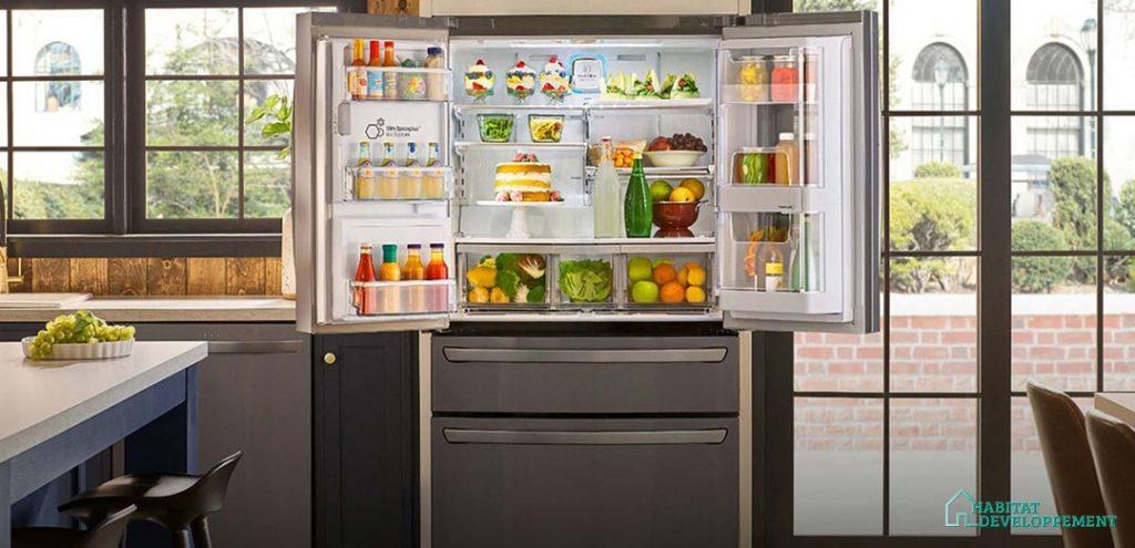 frigo multi-portes ouvert