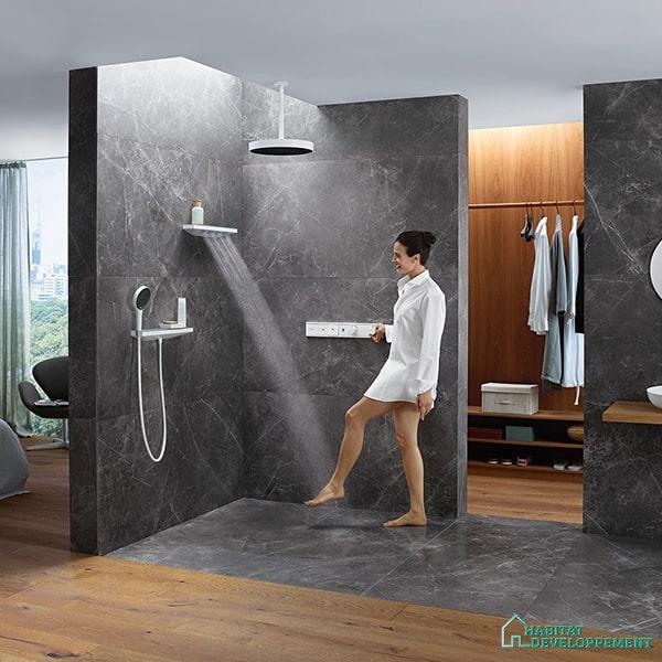 colonne de douche differents jets